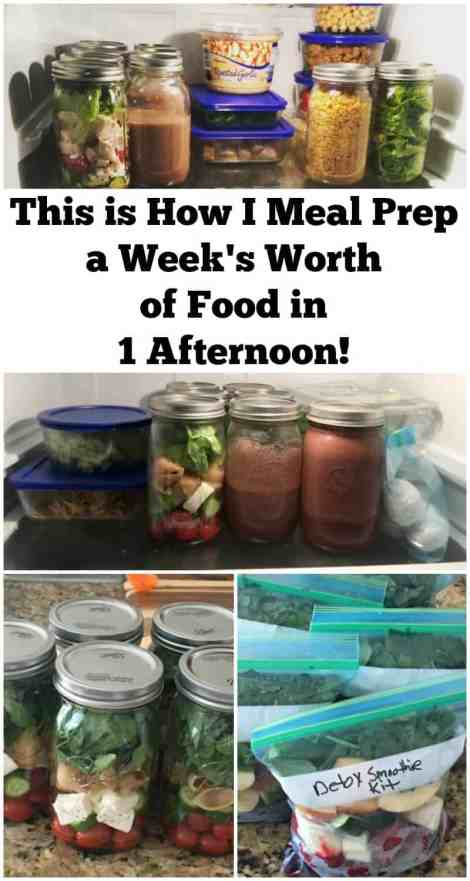 This is how I meal prep a week's worth of food in 1 afternoon