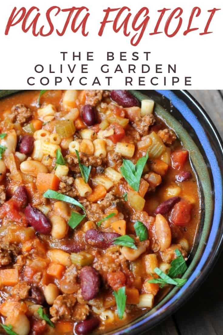 Pasta Fagioli The BEST Copycat Olive Garden Recipe