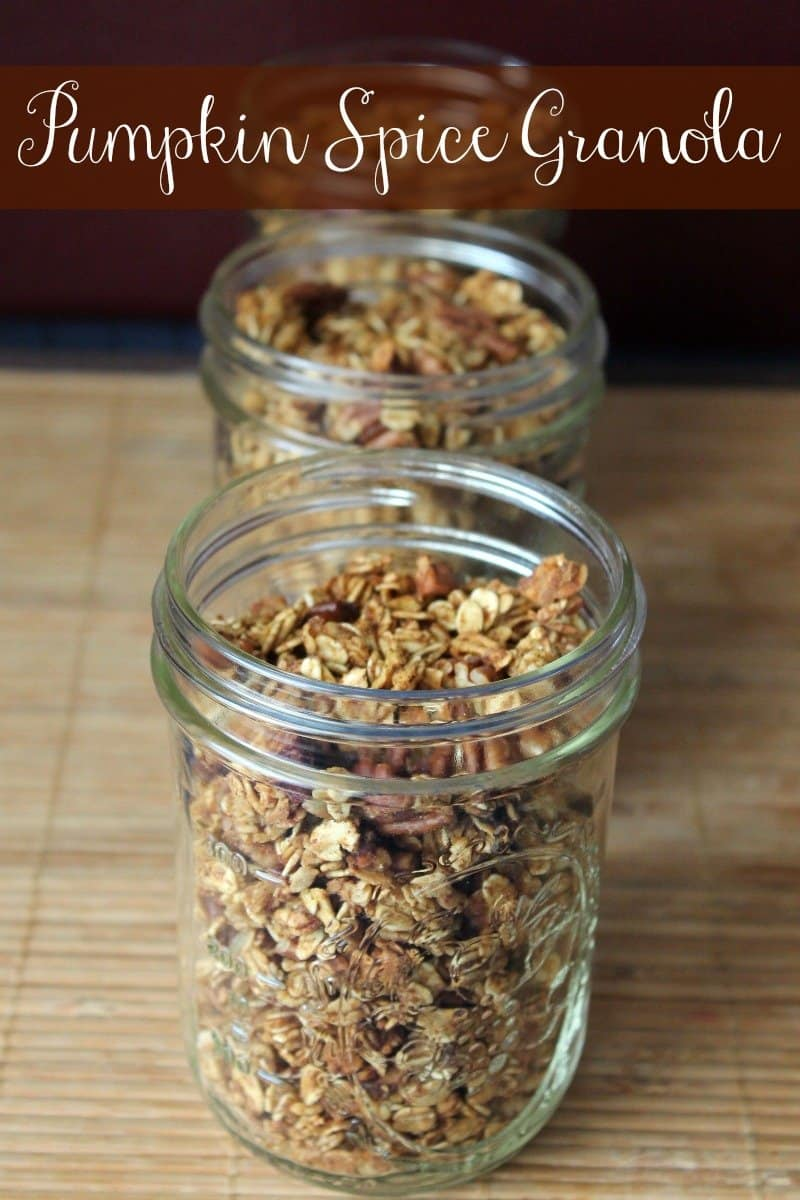 Pumpkin Spice Granola Recipe 167 calories and 4 weight watchers points plus