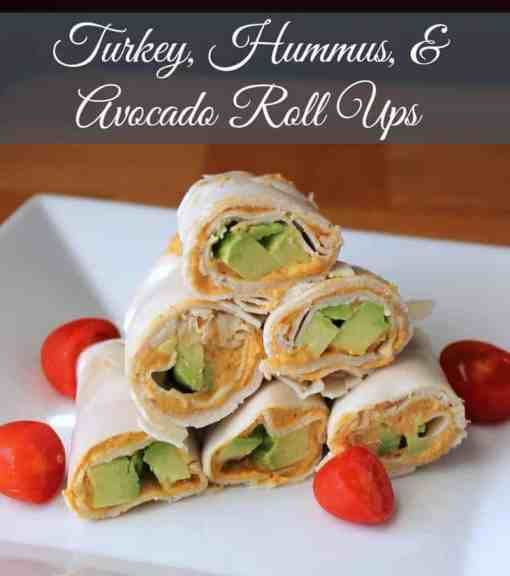 Turkey, Hummus, and Avocado Roll Ups