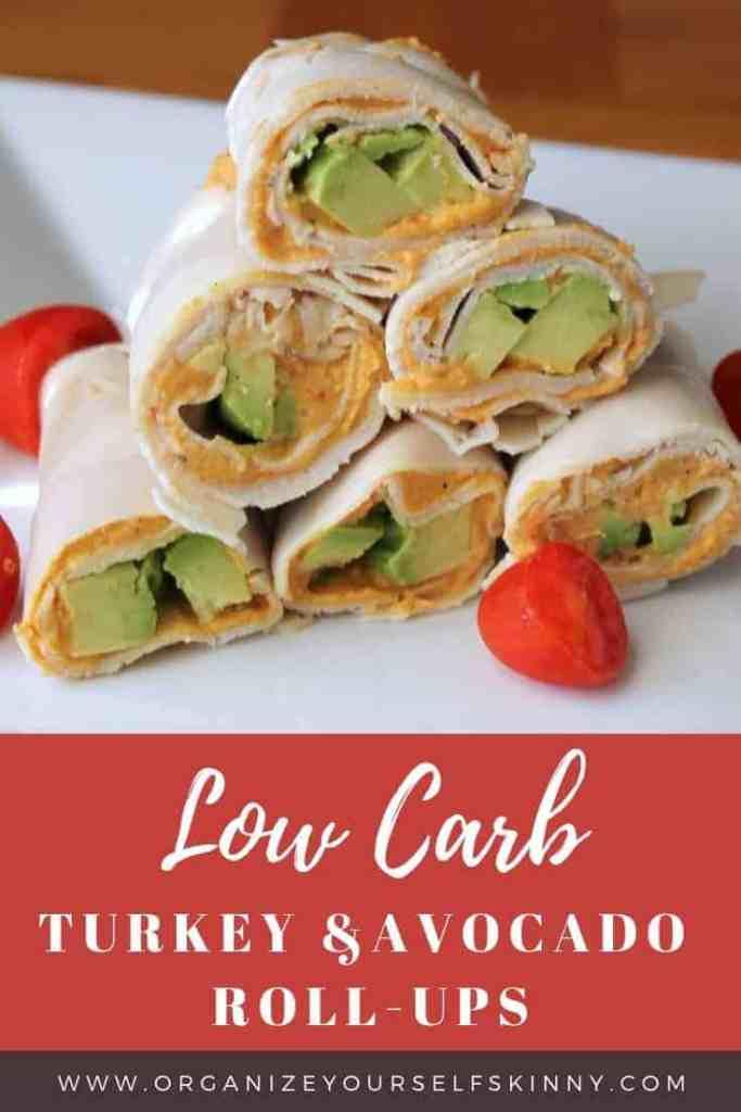 low carb lunch recipe turkey avocado rollups