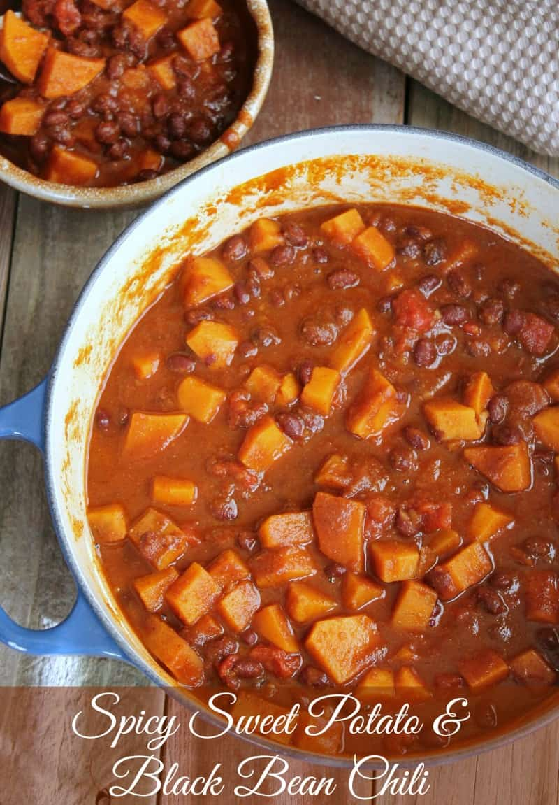 Sweet Potato and Black Bean Chili 303 calories 7 weight watchers points