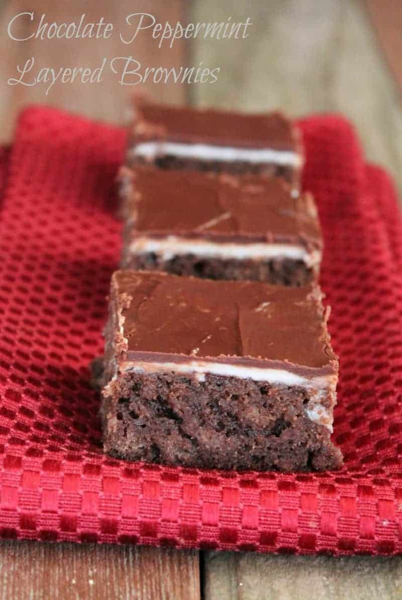 chocolate peppermint layered brownies organize yourself skinny