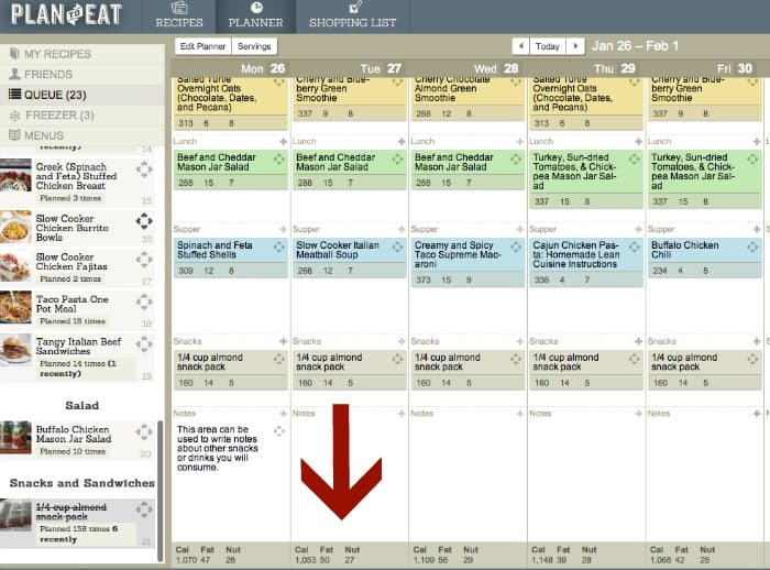 create a custom weight loss or weight watchers meal plan using plan