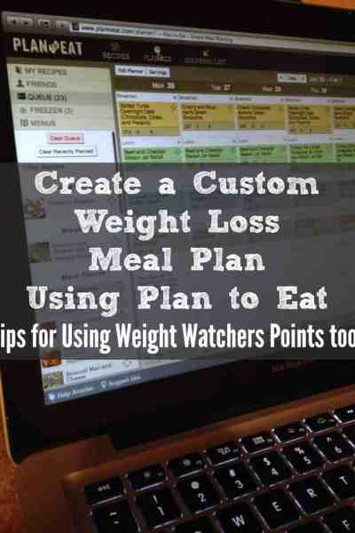 Create a Custom Weight Loss Meal Plan With Plan to Eat