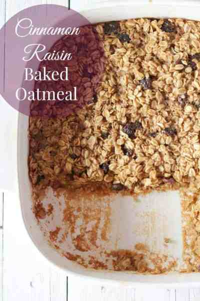 Cinnamon Raisin Baked Oatmeal