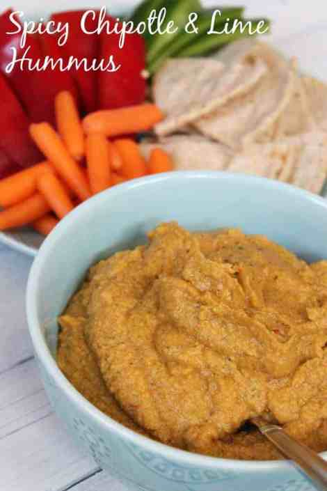 Spicy Chipotle and Lime Hummus #meatlessmondaynight 81 calories 2 weight watchers points plus
