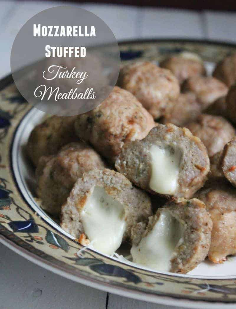 Mozzarella Stuffed Turkey Meatballs 81 calories per meatball and 2 weight watchers points plus