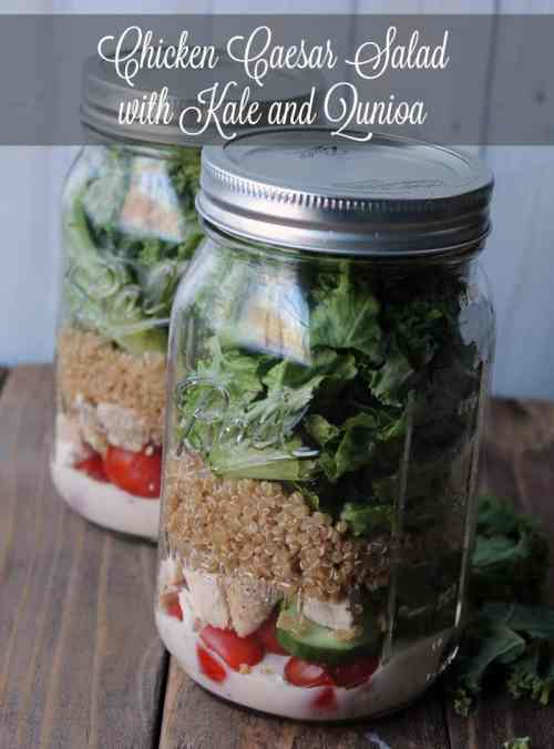 Chicken Caesar Salad with Kale and Quinoa