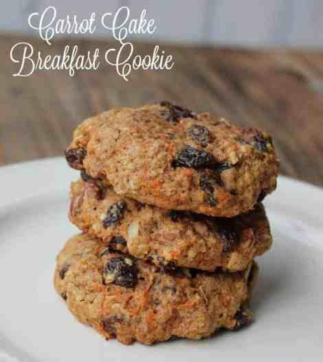 Carrot Cake Breakfast Cookie. Healthy Make-ahead breakfast recipe
