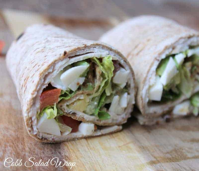 Cobb Salad Wrap. Healthy and lightened up all-american favorite