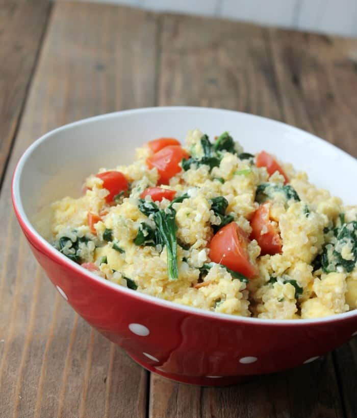 Greek Quinoa Breakfast Bowl
