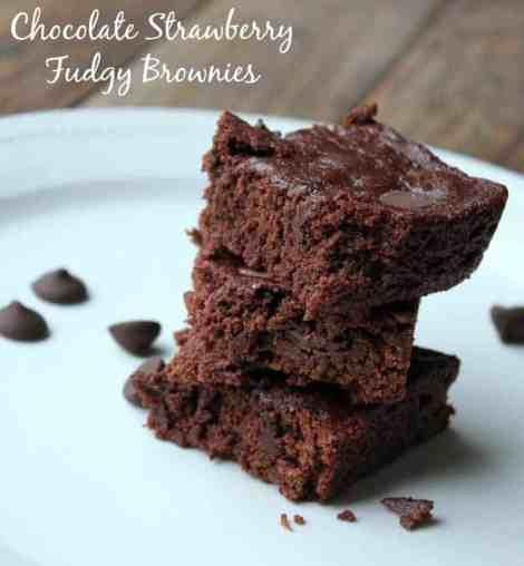 chocolate strawberry fudge brownies