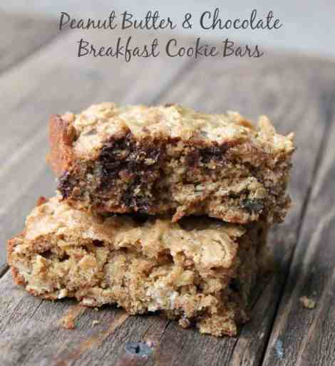 Peanut Butter and Chocolate Breakfast Cookie Bar