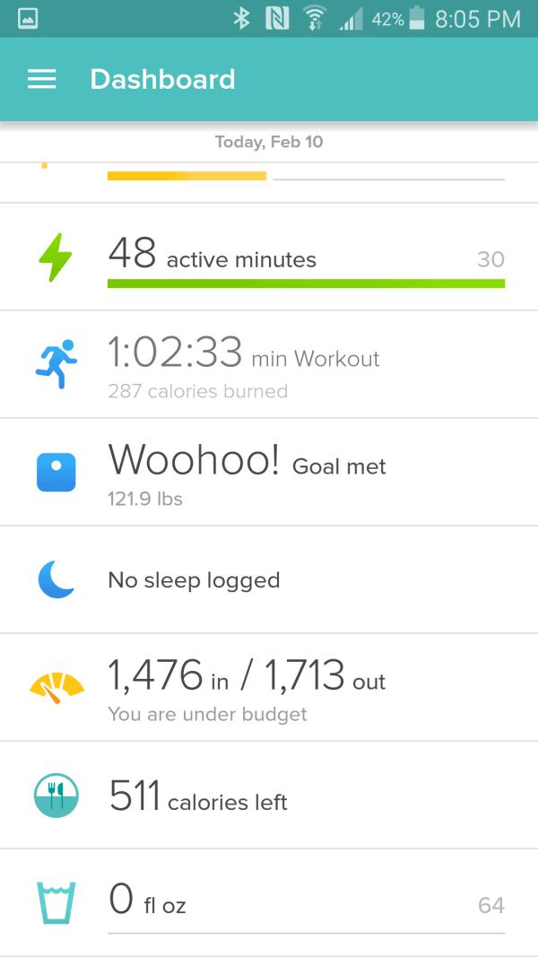 Fitbit Screenshot 2