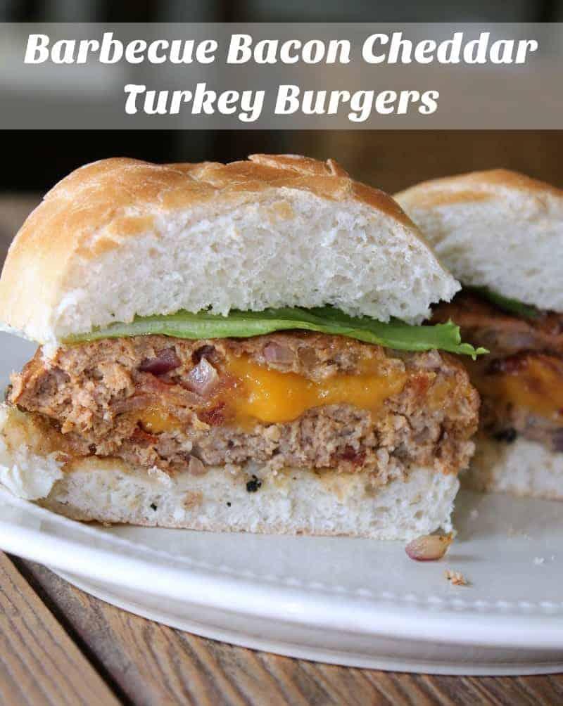 Barbecue Bacon Cheddar Turkey Burgers #JimmyDeanBacon #ad