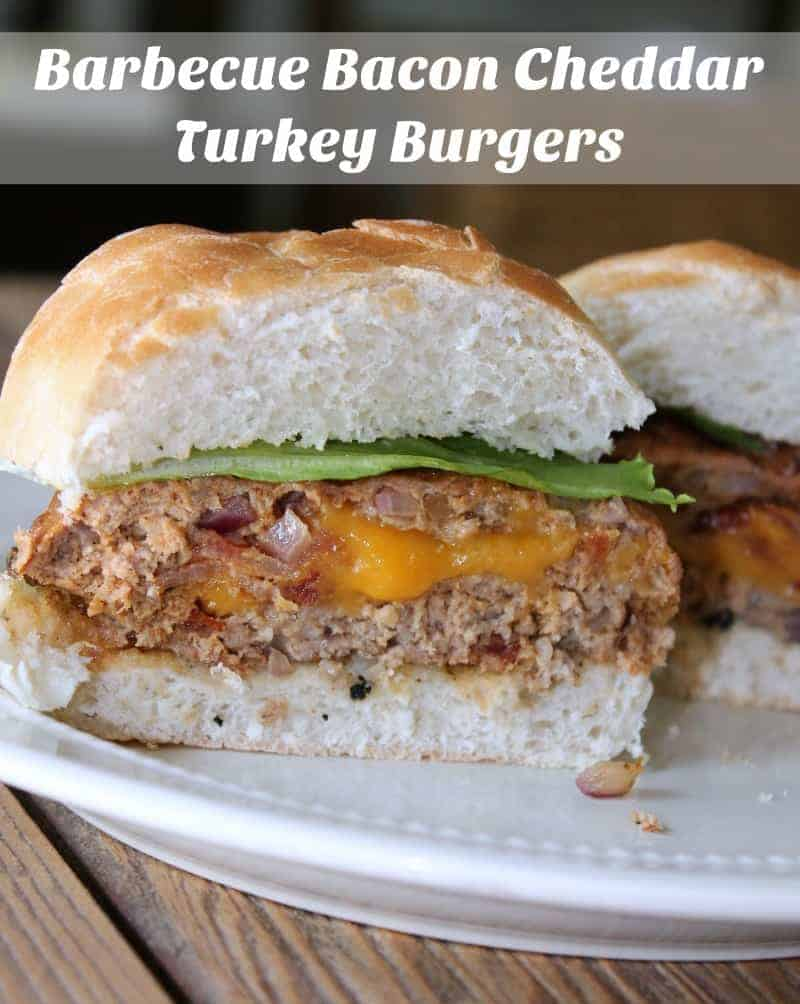Barbecue Bacon Cheddar Turkey Burgers #JimmyDeanBacon #ad