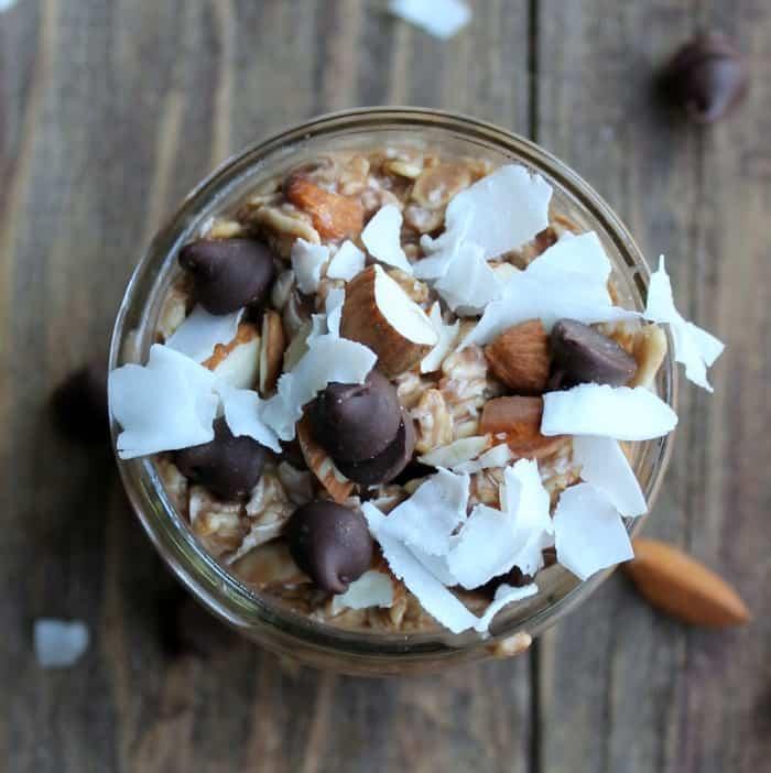 Almond Joy Overnight Oats