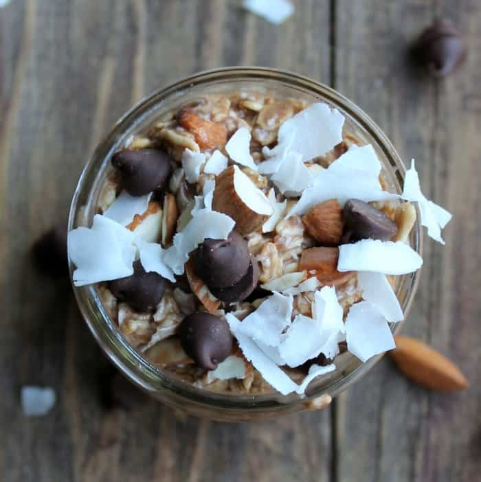 Almond Joy Overnight Oats