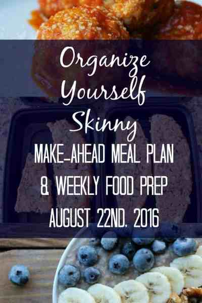 Make-ahead Meal Plan & Weekly Food Prep {August 22nd, 2016}