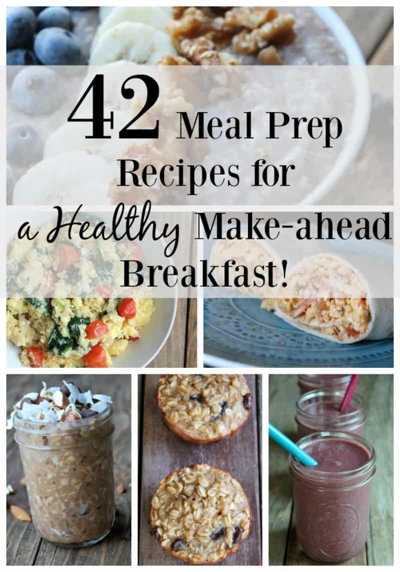42 meal prep recipes for a healthy make-ahead breakfast. Lots of tips and some video tutorial included