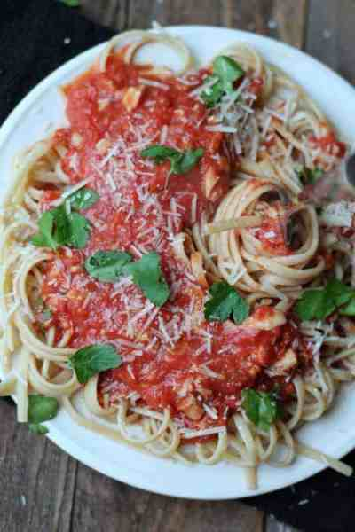 Healthy Linguine With Red Clam Sauce
