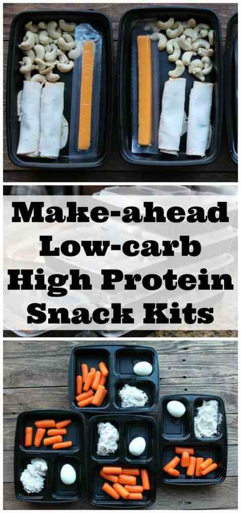 Make-ahead Protein Snack Kits. Perfect to prepare on meal prep day for a healthy snack all week