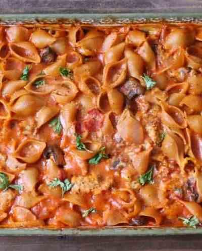 Healthy Pizza Pasta Bake