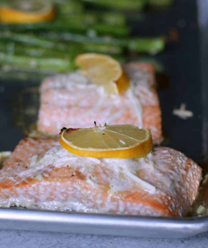 Baked Salmon and Asparagus