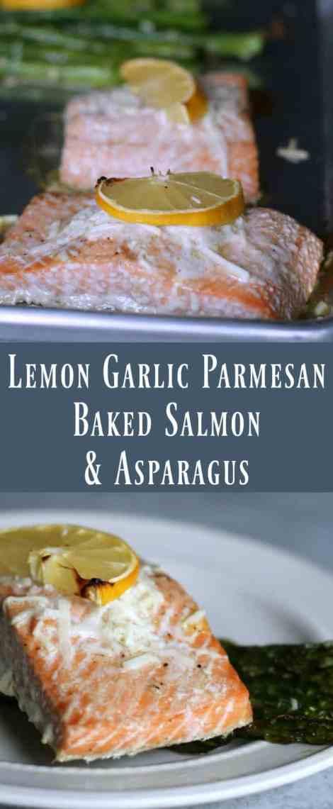 Healthy Baked Lemon Garlic Salmon and Asparagus