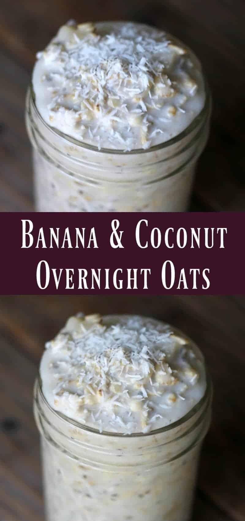 Banana and Coconut Overnight Oats