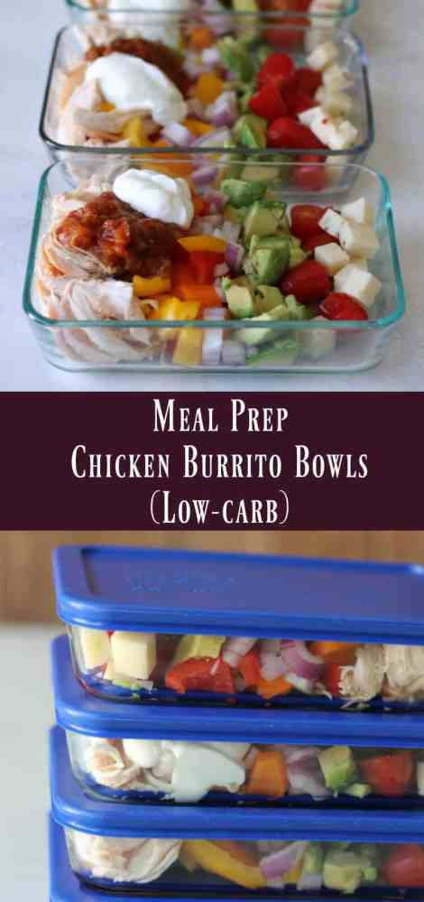 Meal Prep Chicken Burrito Bowls