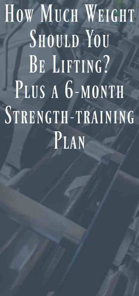 How Much Weight Should You Lift? Plus a 6-month strength-training plan