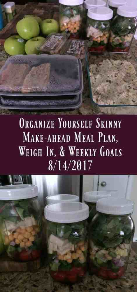 Make-ahead meal plan, weigh in, and weekly goals