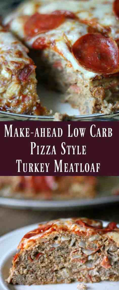 Make-ahead Low Carb Pizza Style Turkey Meatloaf Recipe