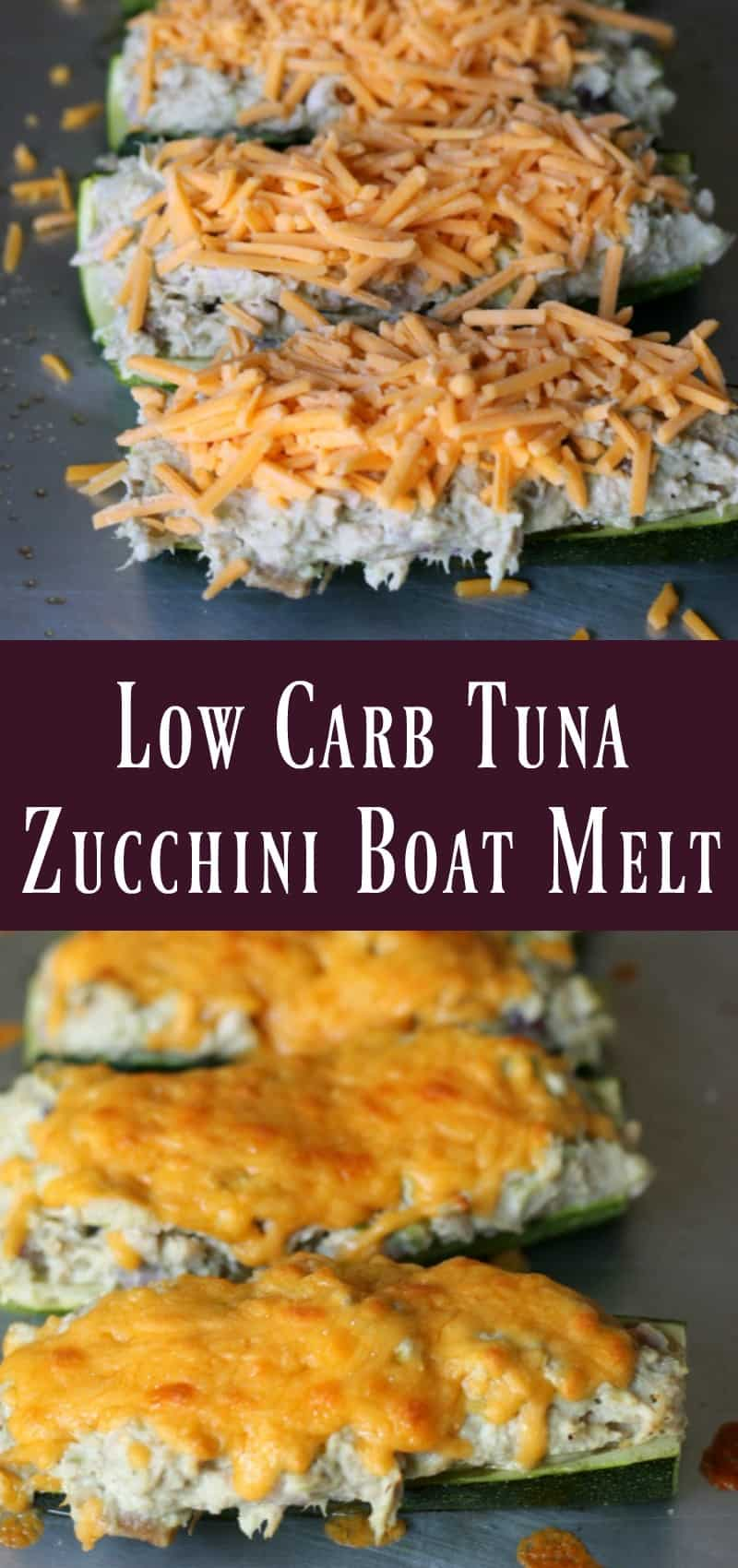 Low Carb Tuna Zucchini Boat Melt Organize Yourself Skinny