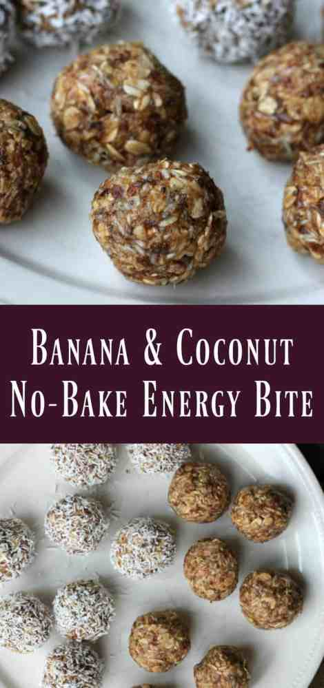 Banana & Coconut No-bake Energy Bite