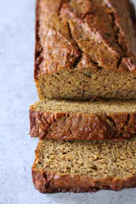 Healthy one bowl pumpkin banana bread organize yourself skinny like all quick breads this pumpkin banana bread can be made ahead of time and frozen for a quick healthy snack just bake it completely let cool forumfinder Choice Image