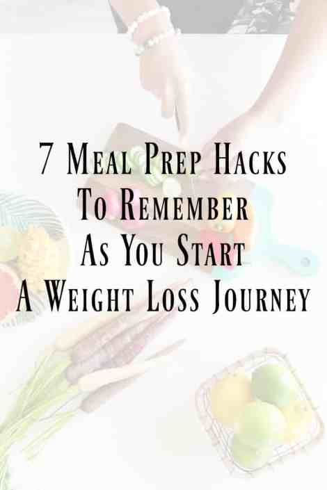 7 Meal Prep Ideas to Remember as You Start a Weight Loss Journey