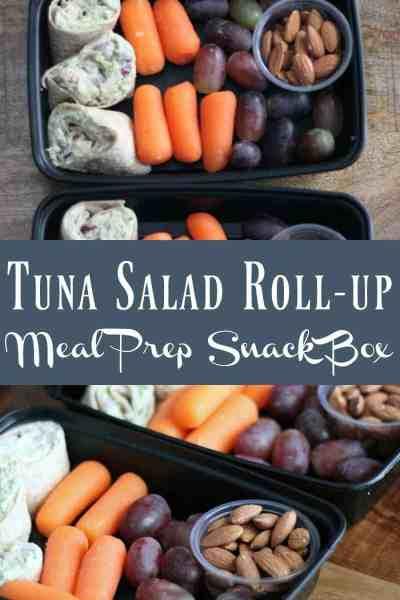 Healthy Meal Prep Idea: Tuna Salad Wrap Snack Box