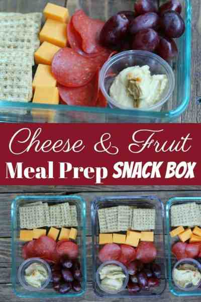 Meal Prep Idea: Cheese & Fruit Snack Box