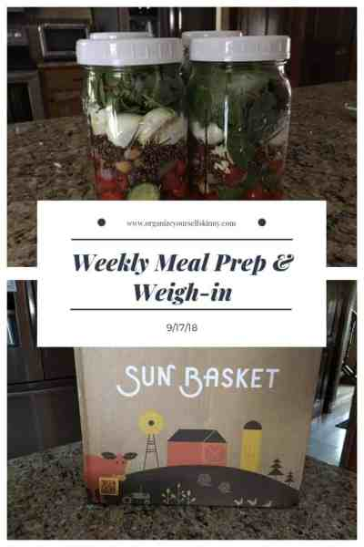 Weekly Meal Prep and Weigh-in {September 17, 2017}