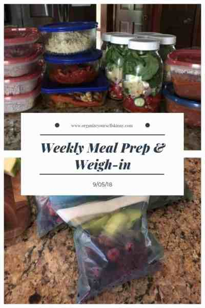 Weekly Meal Prep & Weigh-in {September 5th, 2018}