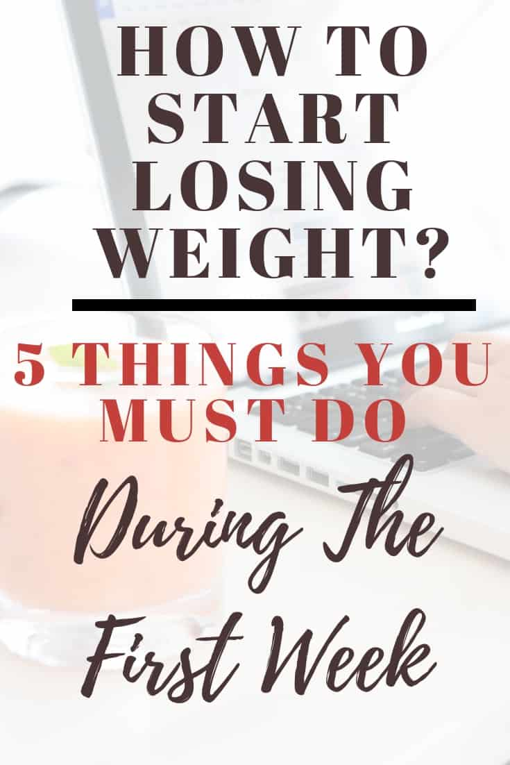 How to start losing weight
