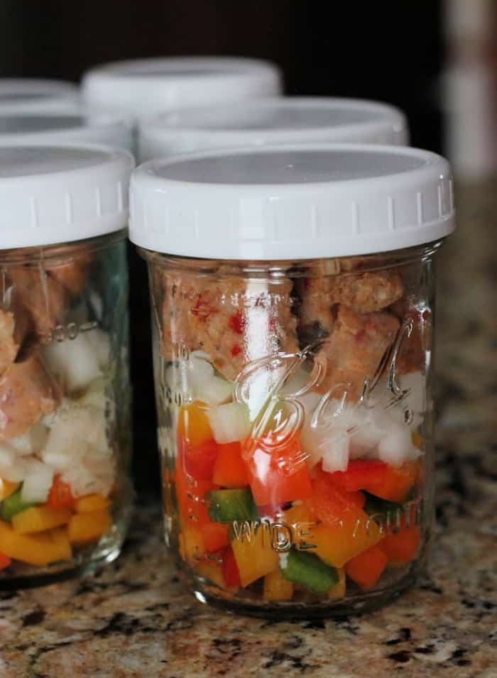 meal prep idea omelette jars