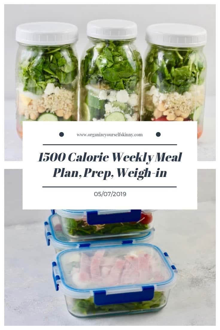 1500 Calorie Weekly Meal Prep Plan