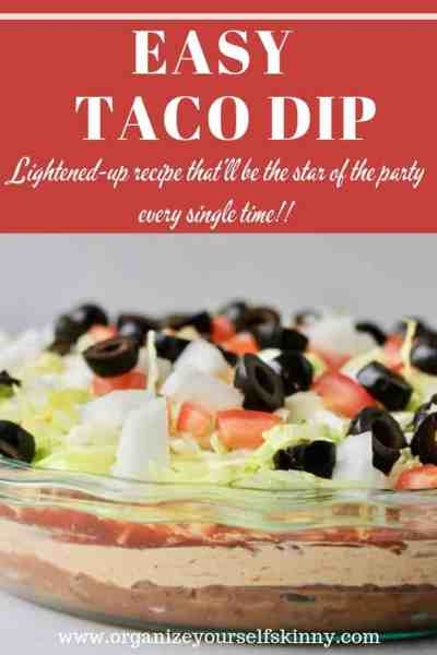 Easy Taco Dip: Lightened-up and Delicious!