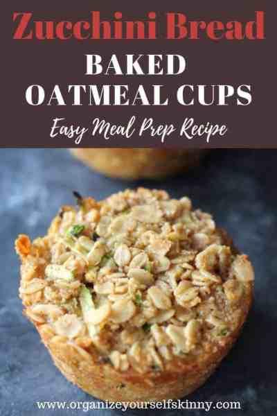 Zucchini Baked Oatmeal Cups
