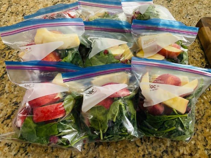 meal plan freezer smoothie kits