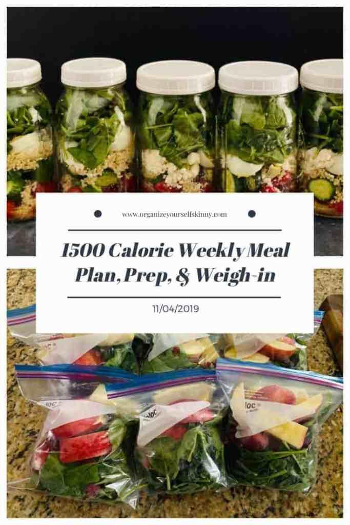 weekly make-ahead meal plan